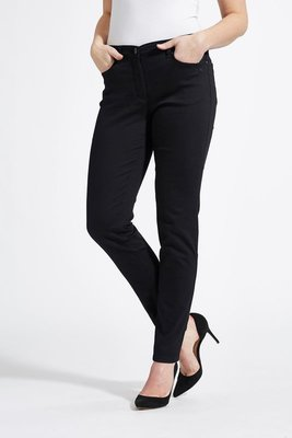 Laurie broek, model Laura Slim basis katoen zwart 22411-99100