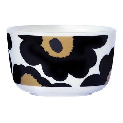 Marimekko servies Oiva/Unikko schaaltje zwart 2,5 dl 063432-030