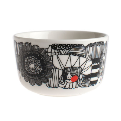Marimekko servies Oiva schaaltje wit/zwart/rood 2,5 dl 063299-193