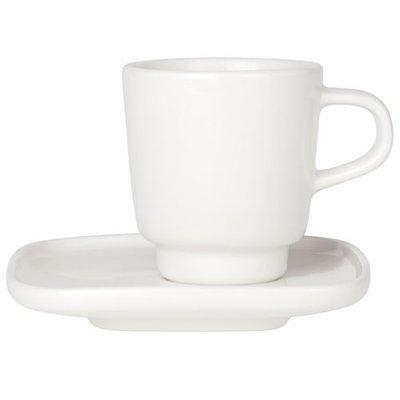 Marimekko servies Oiva espresso kop en schotel wit/zwart 065320-100