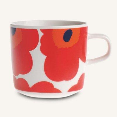 Marimekko servies Oiva/Unikko koffiekop rood 2 dl 063429-001