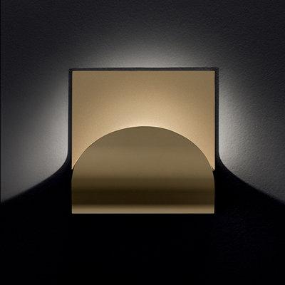 Cini & Nils wandlamp Incontro, wit, mat goud, mat zilver