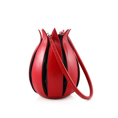 by-Lin Tas Tulip Classic rood/zwart 070111 tulp