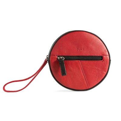 by-Lin Tas Round Purse rood/zwart 170903