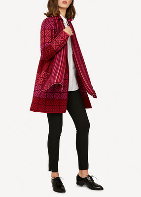 Oleana Long Cardigan 338 K bordeaux