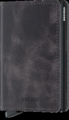 Secrid Slimwallet S Vintage Grey Black portemonnee
