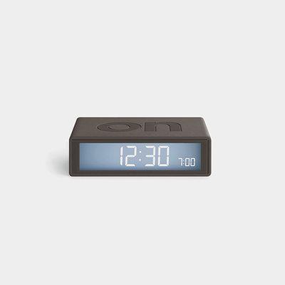 LEXON Flip Travel Clock Grijs LR151G9