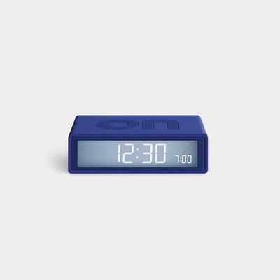 LEXON Flip Travel Clock Blauw LR151B9