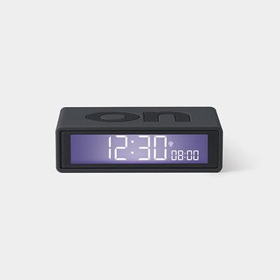 LEXON Flip Clock RCC Rubber Donker Grijs LR150G9