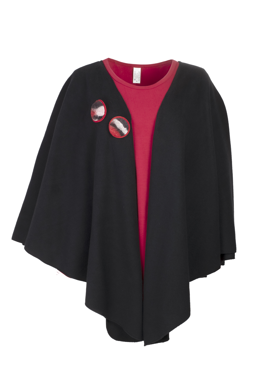 Geesje Sturre cape zwart 234658