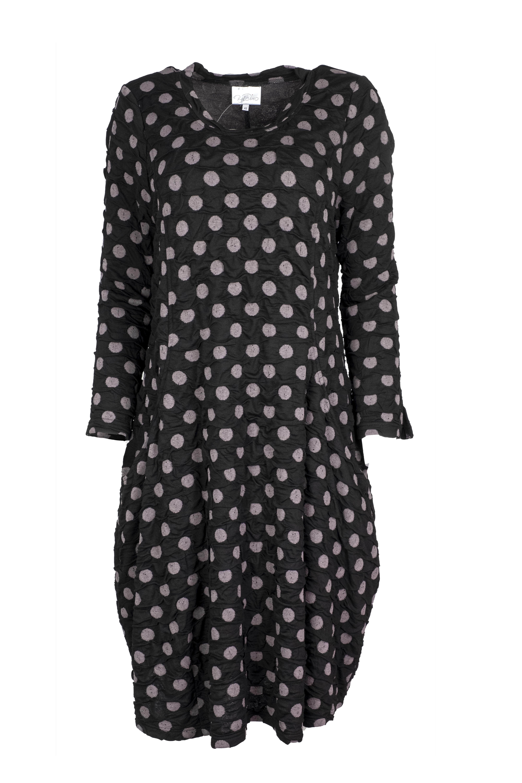 Baldino kleding jurk 3-329C zwart/grijs stip