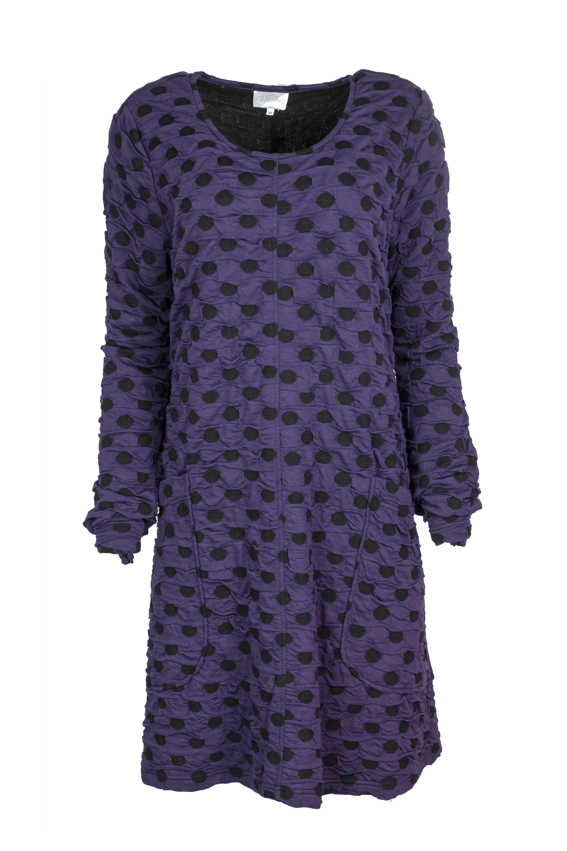 Baldino kleding tuniek 3-328 paars/zwart stip