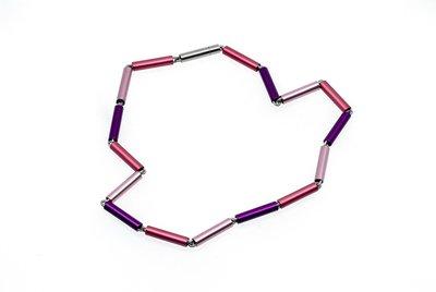 Apero collier 5.01 Roze-paars 45 cm