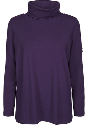 Two Danes Benedicte colpulli shirt donkerpaars 25531-249