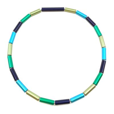 Otracosa Ketting blauw/groen/lichtgroen/lichtblauw C317