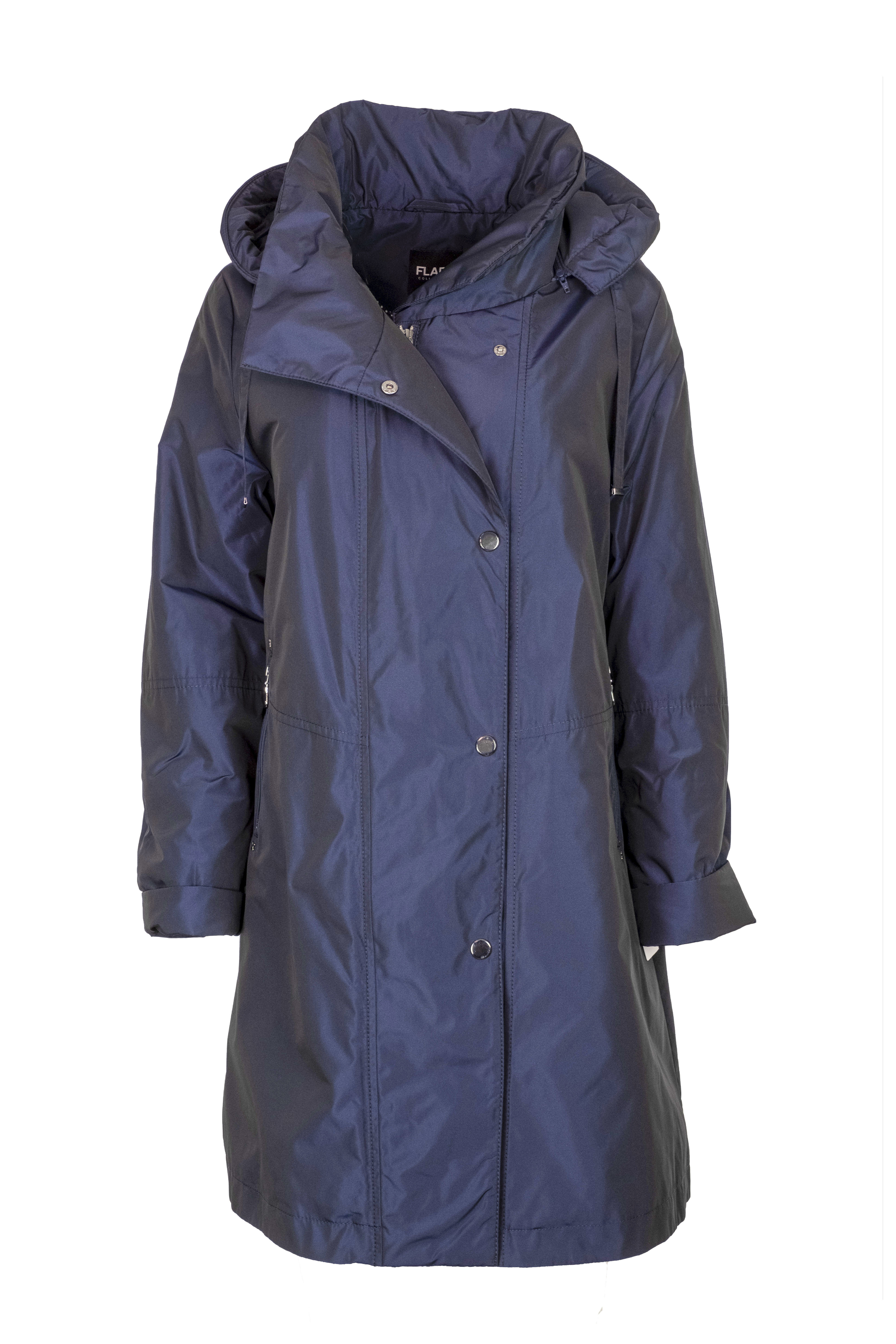 Flare Collection winterjas 3346 donkerblauw