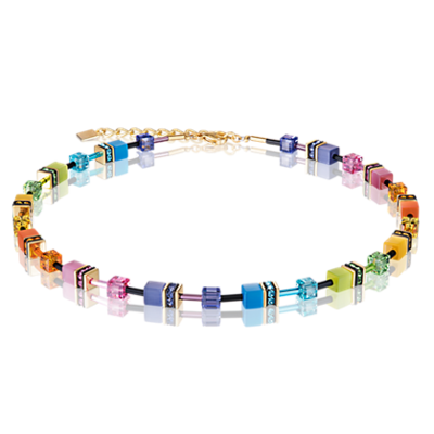 Coeur de Lion Ketting 2838/ /1573 Multicolor Rainbow-Gold 2