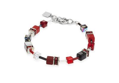 Coeur de Lion Armband 4014/ /0312 Red-Grey
