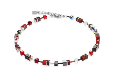 Coeur de Lion Ketting 4014/ /0312 Red-Grey