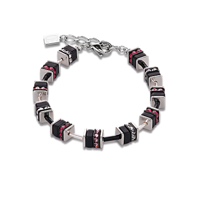 Coeur de Lion Armband 4409/ /0327 Crystals Small Ruby-Black