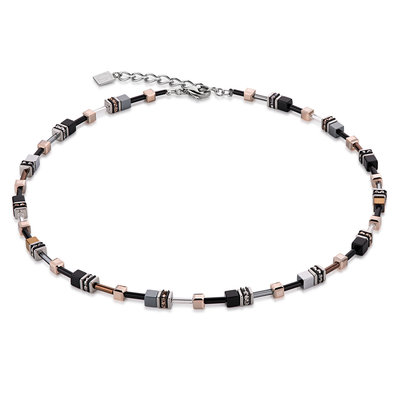 Coeur de Lion Ketting 4838/ /1331 Black-Copper