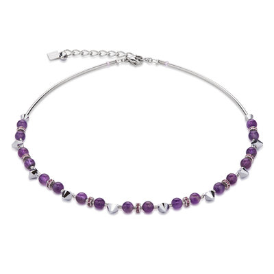 Coeur de Lion Ketting 4894/ /0800 Purple