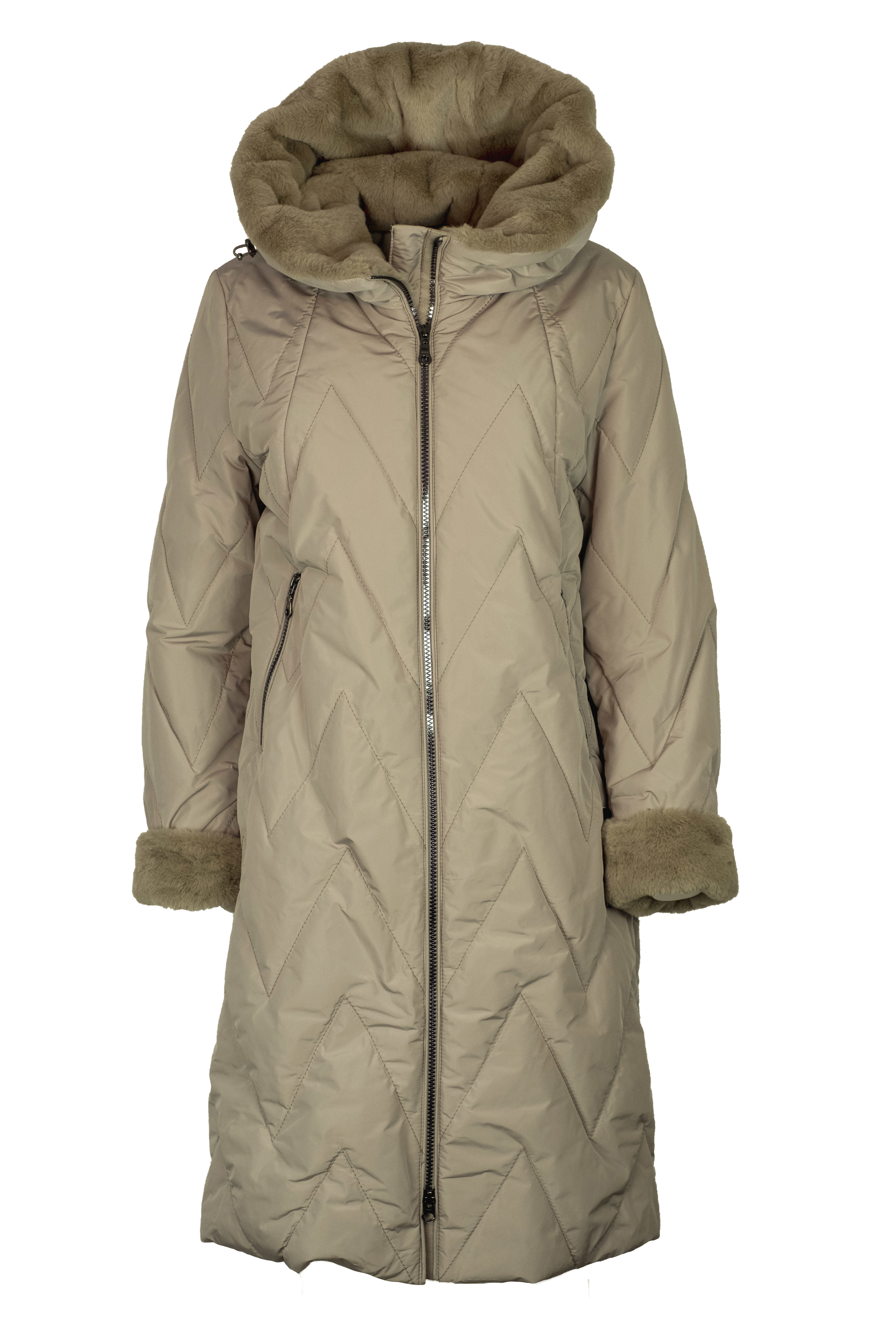 Flare Collection winterjas 3155 Sand