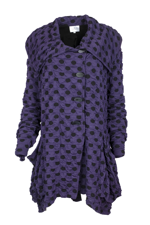 Baldino kleding jasje 3-1059 paars/zwart stip