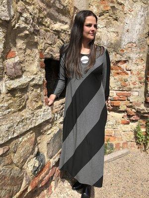 Baldino kleding jurk 2-1058B zwart/grijs
