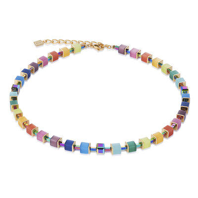 Coeur de Lion Ketting 4947/ /1535 Multicolor Rainbow-Gold