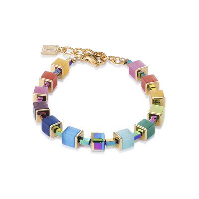 Coeur de Lion Armband 4947/ /1535Multicolor Rainbow-Gold