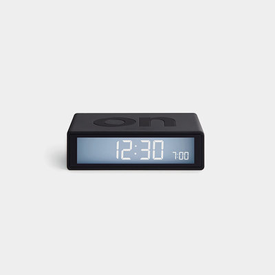 LEXON Flip Travel Clock Donker Grijs LR151G3