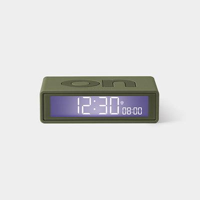 LEXON Flip Clock RCC Rubber Kaki LR150K9