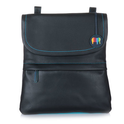 MyWalit Medium Backpack/Messenger Bag Black Pace 1821-4