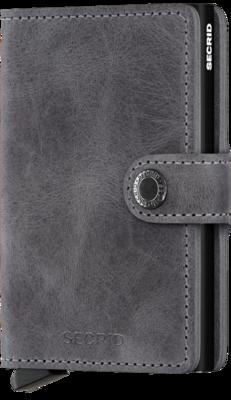 Secrid Miniwallet MV Vintage Grey-Black portemonnee