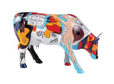 Cow Parade 46755 L Picowso's School for the Arts
