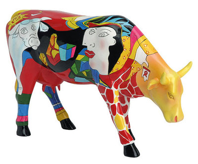 Cow Parade 46357 L Homage to Picowso's African Period