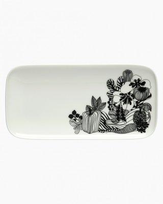 Marimekko servies Oiva/Siirtolapuutarhaserveerschaal wit/zwart 069676-190
