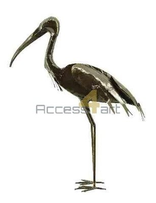 Metalen Heilige ibis vogel staand, metalen vogel | Birdwoods