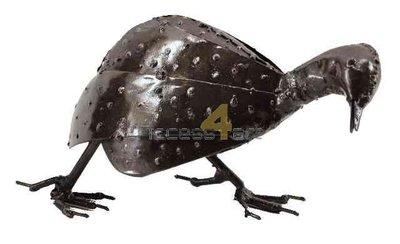 Metalen Parelhoen klein lopend, metalen vogel | Birdwoods