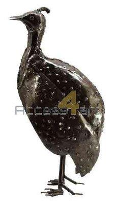 Metalen Parelhoen middel staand, metalen vogel | Birdwoods