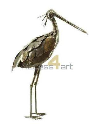 Metalen lepelaar staand, metalen vogel | Birdwoods