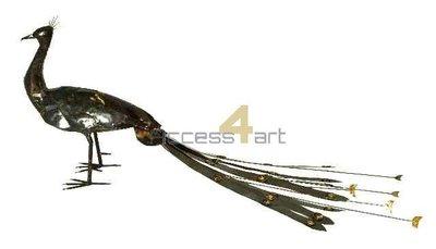 Metalen pauw, metalen vogel | Birdwoods