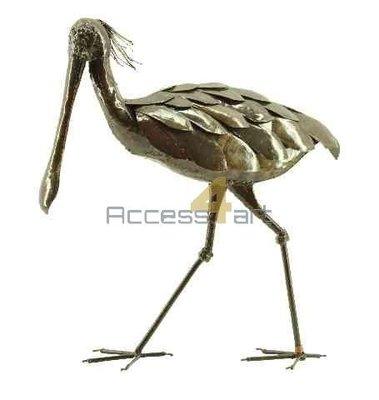 Metalen lepelaar lopend, metalen vogel | Birdwoods
