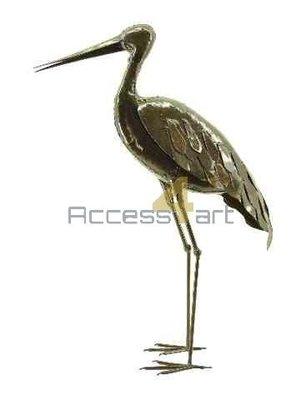 Metalen ooievaar staand, metalen vogel | Birdwoods