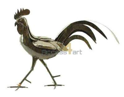Metalen haan, sierhaan, metalen vogel | Birdwoods