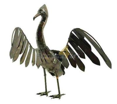 Metalen aalscholver middel, metalen vogel | Birdwoods