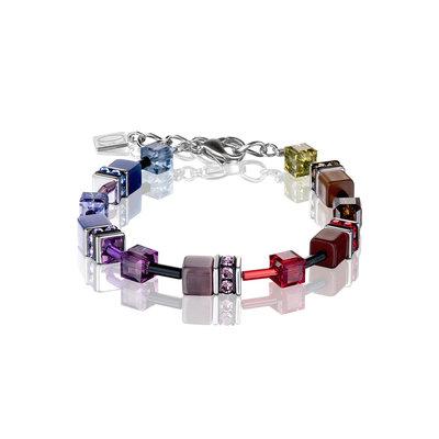 Coeur de Lion Armband 2838/ /1570 Multicolor Rainbow Dark
