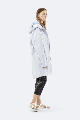 Rains Regenjas Long Jacket unisex Metallic Ice Grey 1202-96