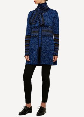 Oleana Long Cardigan 168 W blauw